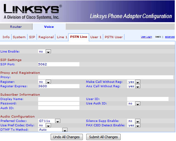Linksys SPA-3102 Admin Page cont'd